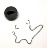 McAlpine 1.5 inch black rubber plug & chain set complete