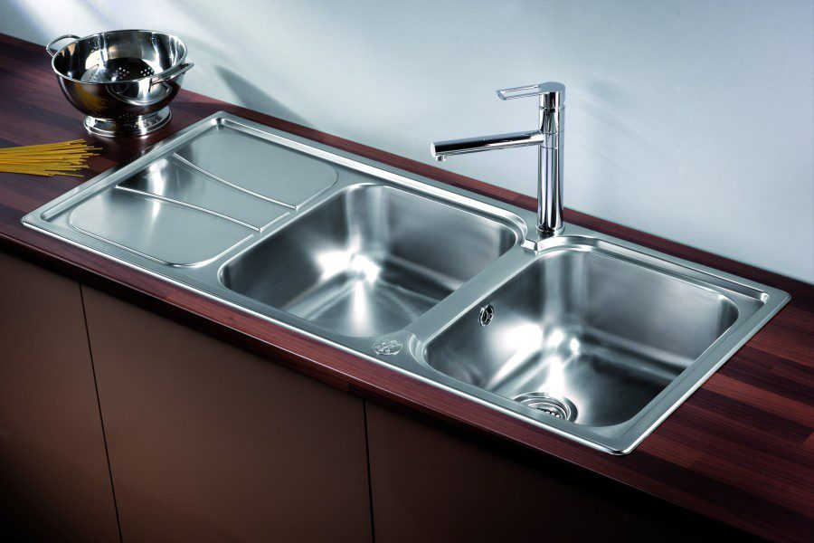 Taps Uk Kitchen Sinks Part - 47: Zeta 215 Double Bowl Sink With Drainer Lifestyle