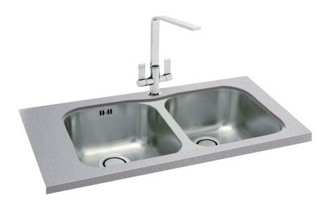 Stainless Steel Double Bowl Kitchen Sink Solutions Taps