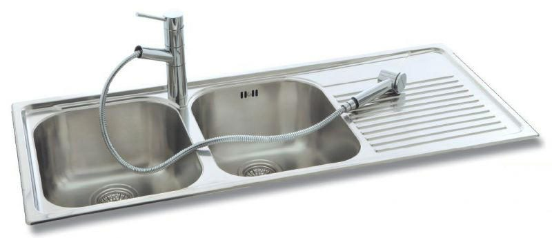 stainless steel double bowl kitchen sink solutions taps and sinks rh tapsandsinksonline co uk double bowl ceramic kitchen sink with drainer double kitchen sink with drain boards