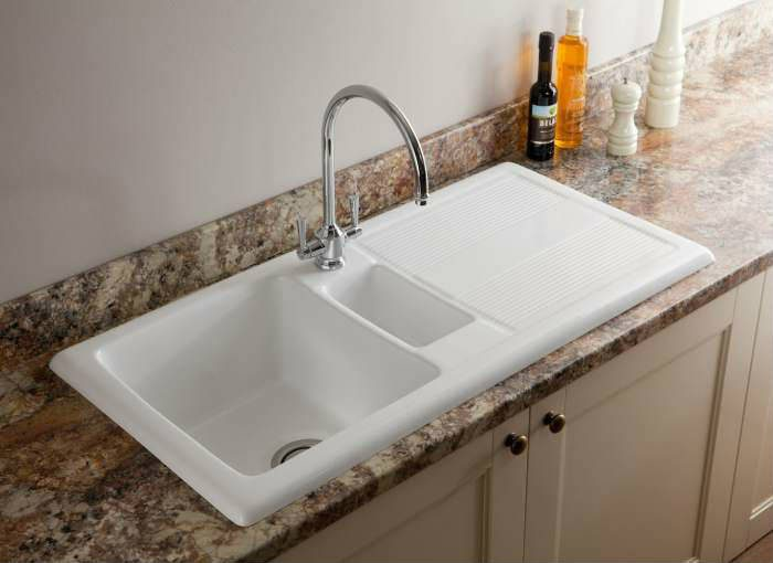 designer kitchen sinks uk carron ceramic kitchen sinks shonelle 150 170