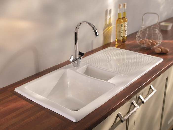 Carron phoenix ceramic kitchen sinks shonelle 150 designer sink uk taps and sinks online - Designer sink image ...