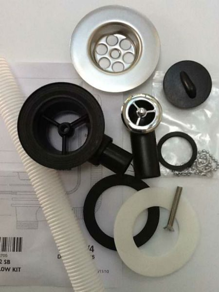 Kitchen Sink Spares Waste Kit 50mm Outlet Taps And
